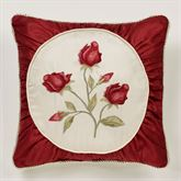 Briar Rose Embroidered Pillow Champagne 18 Square