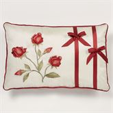 Briar Rose Piped Pillow Champagne Rectangle