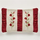 Briar Rose Shirred Embroidered Pillow Champagne Rectangle