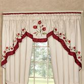 Briar Rose 3 Piece Swag Valance Set Champagne 116 x 36