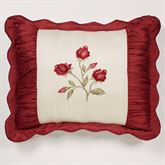 Briar Rose Flanged Embroidered Sham Champagne