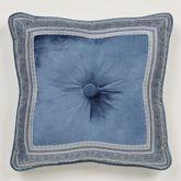 Arabelle Framed Tufted Pillow Blue 18 Square