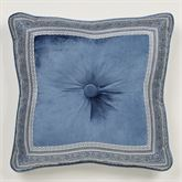 Arabelle Framed Tufted Pillow Blue 18 Square