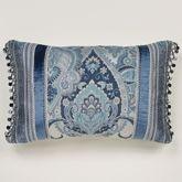 Arabelle Ball Tassel Tailored Pillow Blue Rectangle