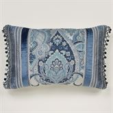 Arabelle Ball Tassel Tailored Pillow Blue Rectangle
