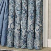 Arabelle Jacobean Damask Curtain Pair Blue
