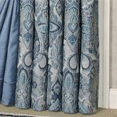 Arabelle Jacobean Damask Curtain Pair Blue