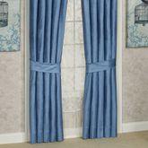 Arabelle Solid Color Curtain Pair Blue