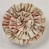 Forever Ruffled Pillow Champagne Round