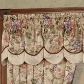 Forever Scalloped Valance Champagne 72 x 18