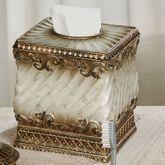 Monaco Tissue Cover Antique Silver