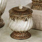 Monaco Covered Jar Antique Silver