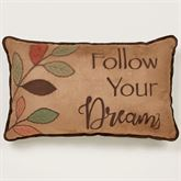 Leafbrook Embroidered Dreams Pillow Multi Warm Rectangle