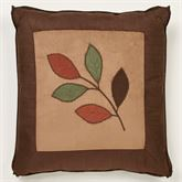 Leafbrook Embroidered Pillow Multi Warm 18 Square