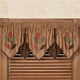 Leafbrook Layered Ascot Valance Multi Warm 72 x 20