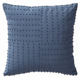 Jakarta Swirl Beaded Pillow Cerulean Blue 14 Square
