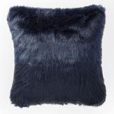 Jakarta Swirl Faux Fur Pillow Midnight Blue 18 Square