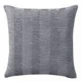 Jakarta Swirl Pleated Tailored Pillow Gray 18 Square