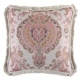 Giulietta Flanged Pillow Light Almond 18 Square