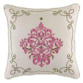 Giulietta Embroidered Pillow Light Almond 16 Square