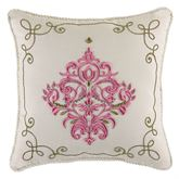 Giulietta Embroidered Pillow Light Almond 16 Square