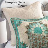 Sea Breeze Dahlia Quilted Sham Light Cream European