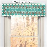 Sea Breeze Dahlia Quilted Valance Turquoise 60 x 15