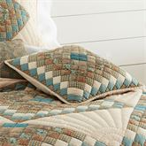 Topaz Handkerchief Patchwork Pillow Multi Warm 18 Square