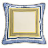 Beaufort Piped Pillow Blue 18 Square