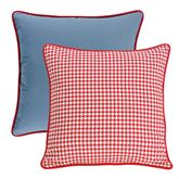 St. Clair Reversible Piped Sham Red European