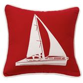 St. Clair Sailboat Pillow Red 18 Square