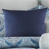 Lainey Solid Color Tailored Pillow Blue 18 Square