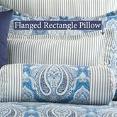 Lainey Flanged Pillow Blue Rectangle