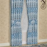 Lainey Wide Tailored Curtain Pair Blue