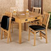 Mission Convertible Table Natural Oak