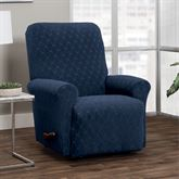 Helix Stretch Slipcover Midnight Blue Recliner