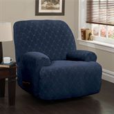 Helix Stretch Slipcover Midnight Blue Jumbo Recliner