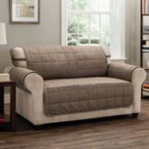 Ridgely Furniture Protector Light Chocolate Loveseat