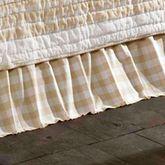 Annie Gathered Bedskirt Honey