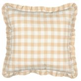 Annie Flanged Pillow Honey 18 Square