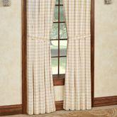 Annie Tailored Curtain Pair Honey 80 x 84