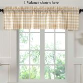 Annie Check Tailored Valance Honey 60 x 16