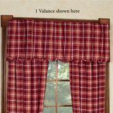 Braxton Cabin Scalloped Valance Dark Red 60 x 16