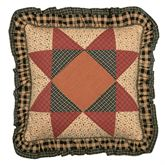 Maisie Flanged Quilted Pillow Multi Warm 18 Square