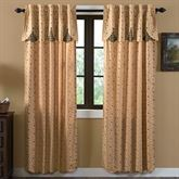 Maisie Curtain Pair with Attached Valance Multi Warm 80 x 84