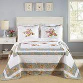 Floral Loretta Bedspread White