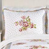 Floral Loretta Flanged Sham White Standard
