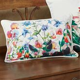 Sweet Pea Rectangle Decorative Pillow Multi Bright 18 x 12