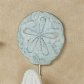 Sand Dollar Wall Hook Aqua