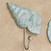 Turban Shell Wall Hook Aqua